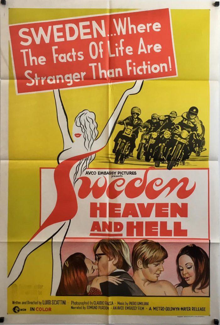 Sweden Heaven And Hell 1968 Australian One Sheet Poster
