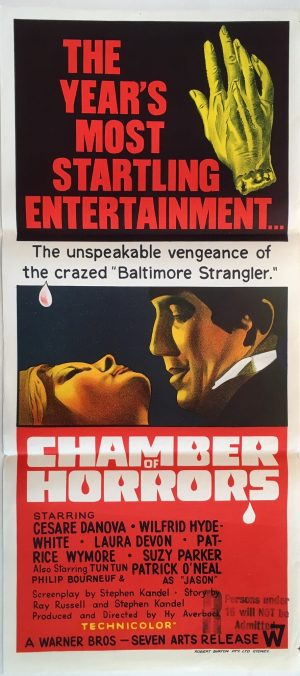 chamber of horrors daybill poster