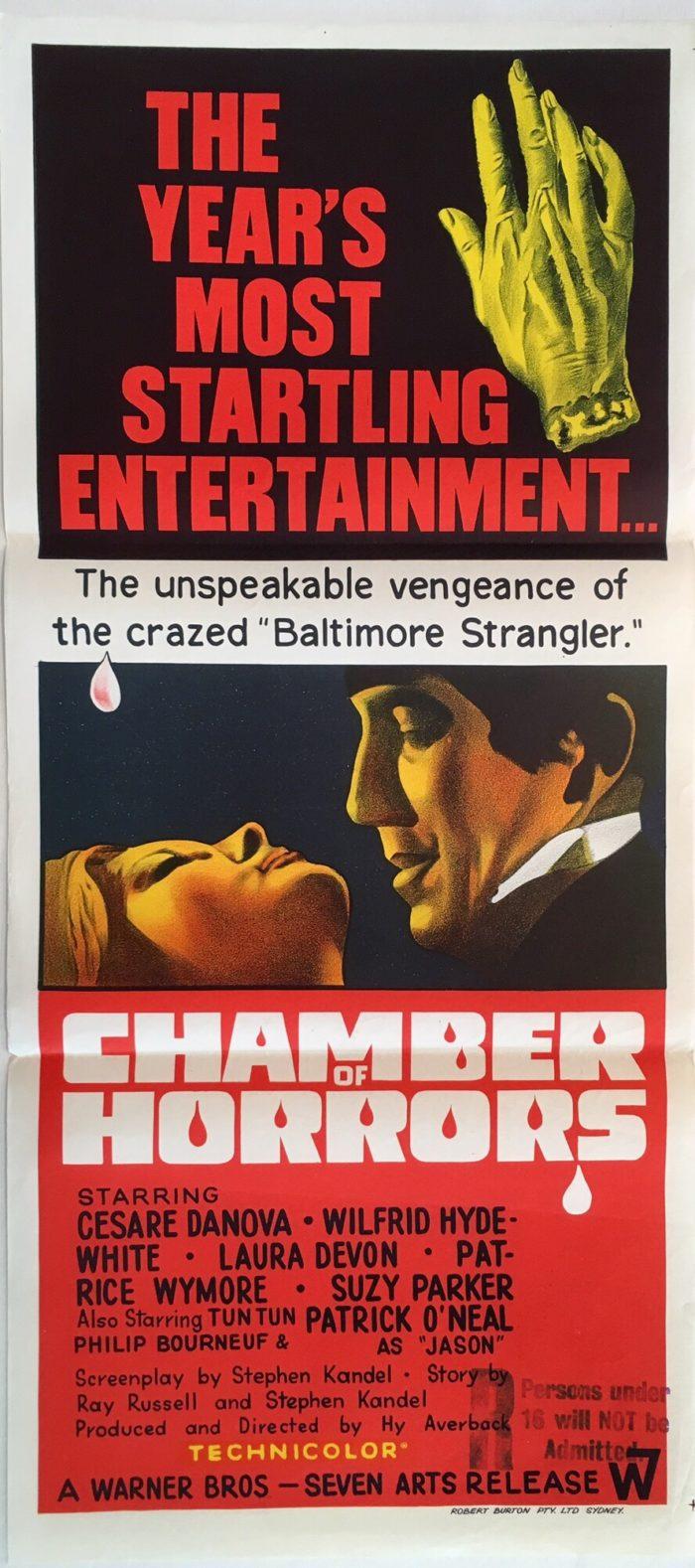 chamber of horrors daybill poster