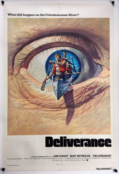 deliverance international one sheet movie poster original 1972 release linen backed (1)
