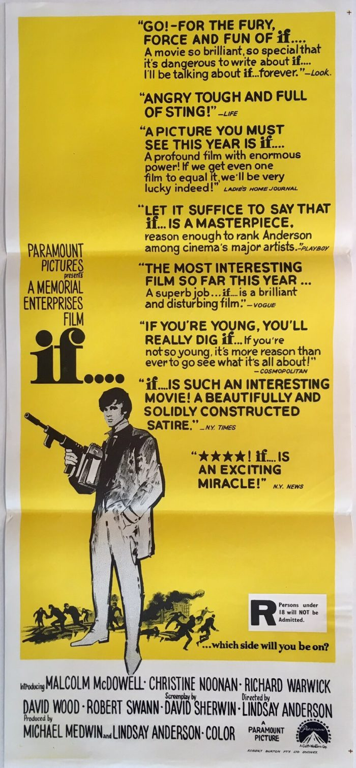if.. daybill poster malcolm mcdowell