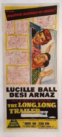 the long long trailer australian daybill poster with lucille ball and desi arnaz 1