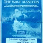 the wave masters australian surfing movie window card with New Zealand Wellington showtime text