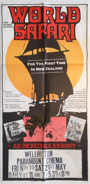 world safari australian & new zealand daybill poster