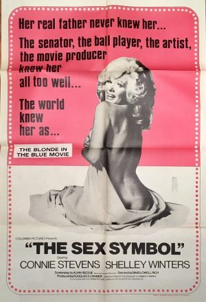 The Sex Symbol (1974) australian one sheet movie poster staring shelley winters and connie stephens