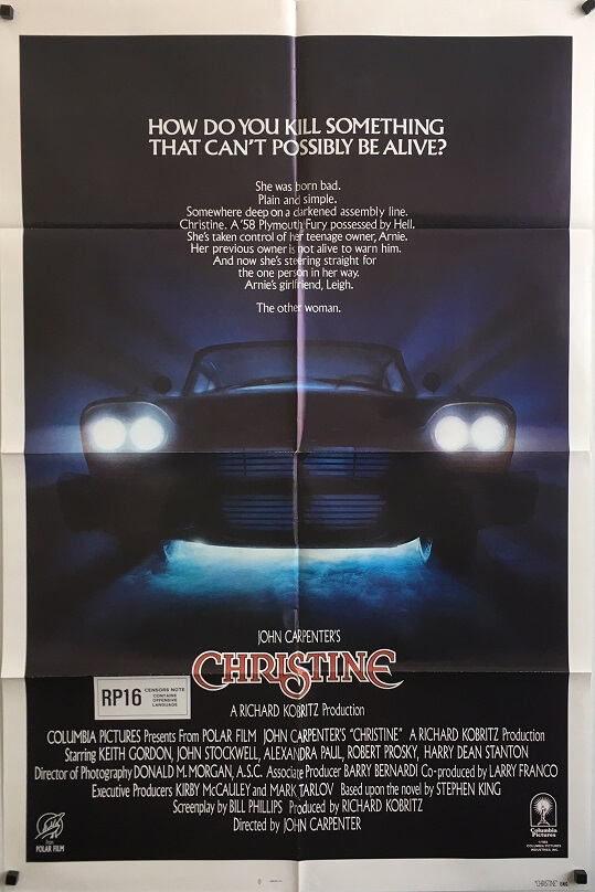christine US one sheet movie poster stephen king (2)