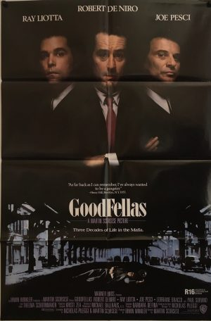 goodfellas US international one sheet movie poster with new zealand ratings snipe 1990