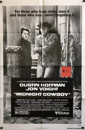 midnight cowboy 1980 re-release US one sheet movie poster (4)