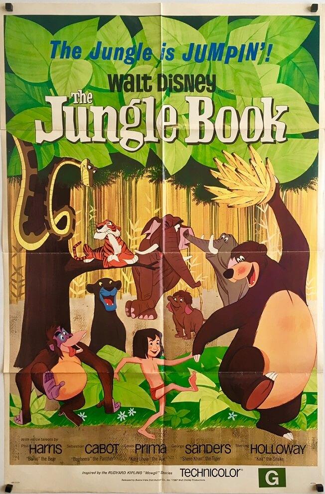 the jungle book US one sheet original movie poster 1967 walt disney