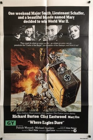 where eagles dare rerelease US one sheet movie poster clint eastwood richard burton (2)