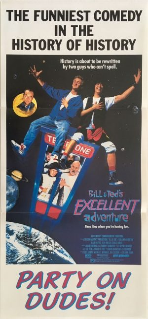 bill and teds excellent adventure daybill poster