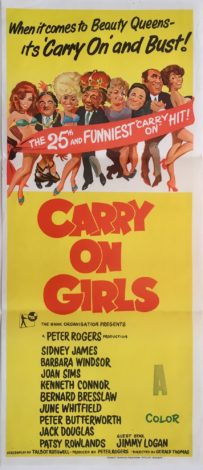carry on girls australian daybill poster sid james