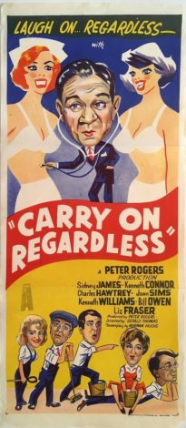 carry on regardless australian daybill film poster sid james