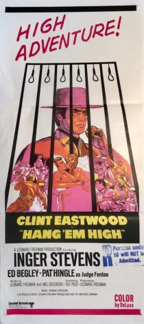 hang em high australian daybill movie poster clint eastwood