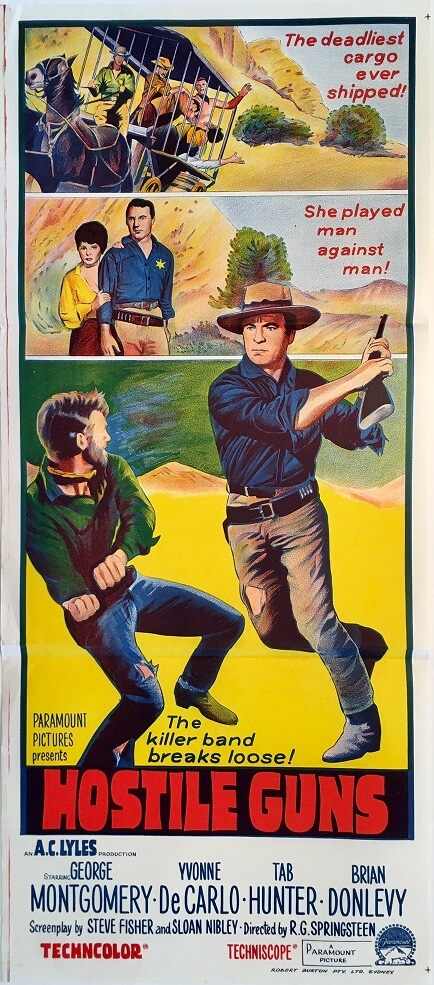 hostile guns australian daybill movie poster western