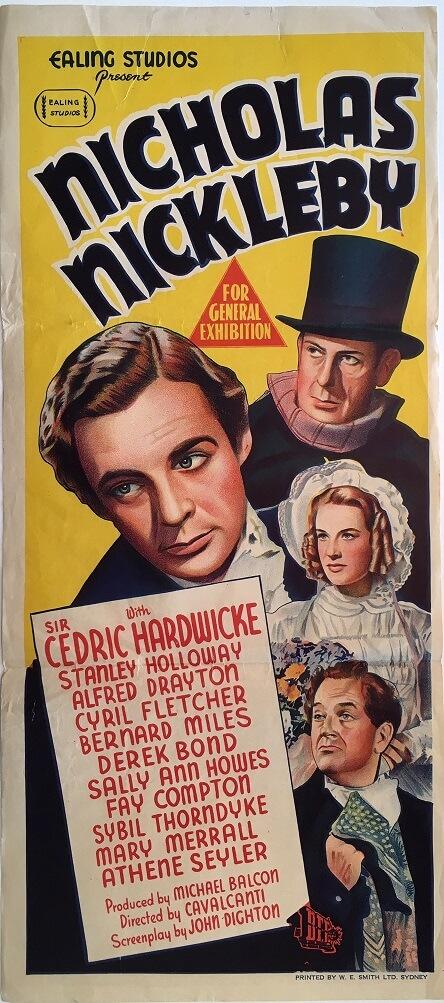 nicholas nickleby australian daybill film poster 1947