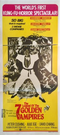 the legend of the goden 7 vampires daybill poster martial arts hammer production
