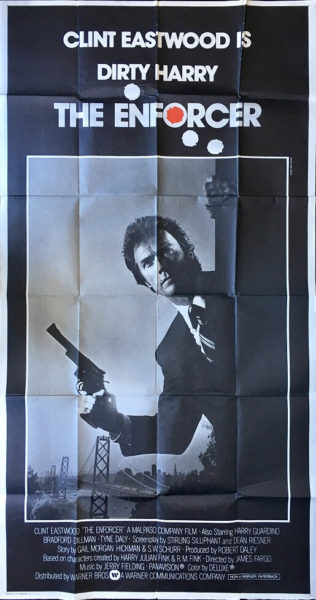 Dirty Harry - The Enforcer 3 sheet movie poster 1976 staring clint eastwood