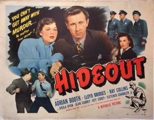 hideout 1949 half sheet poster adrian booth and lloyd bridges