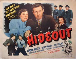 hideout 1949 half sheet poster adrian booth and lloyd bridges