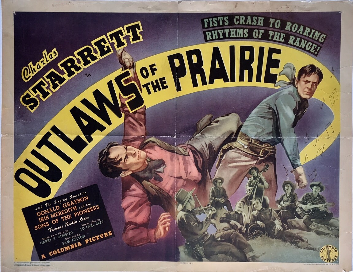 outlaws of the prairie 1939 half sheet charles starrett (2)