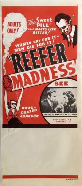 reefer madness australian daybill movie poster 1970s rerelease