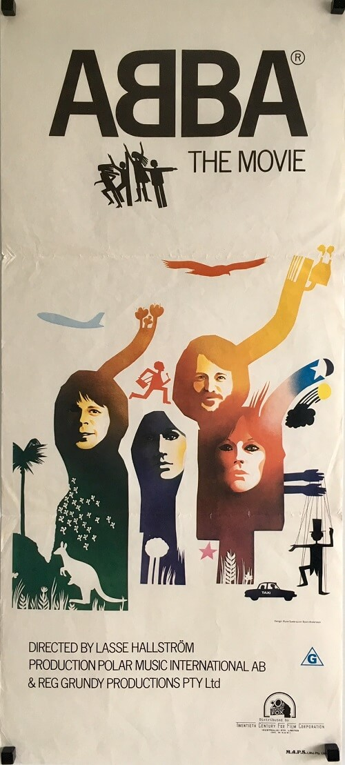 ABBA The Movie Daybill australian daybill poster original
