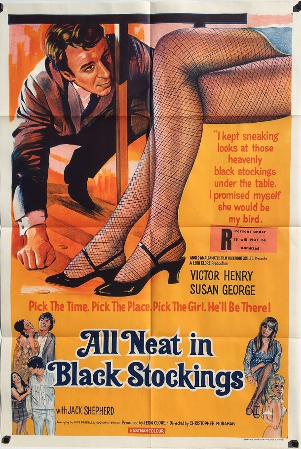 All Neat in Black Stockings 1969 Australian One Sheet Poster
