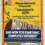 and now for something completely different 1971 Australian One Sheet Poster Monty Python