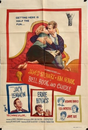 bell book and candle 1958 australian one sheet poster James Stewart Kim Novak Jack Lemmon