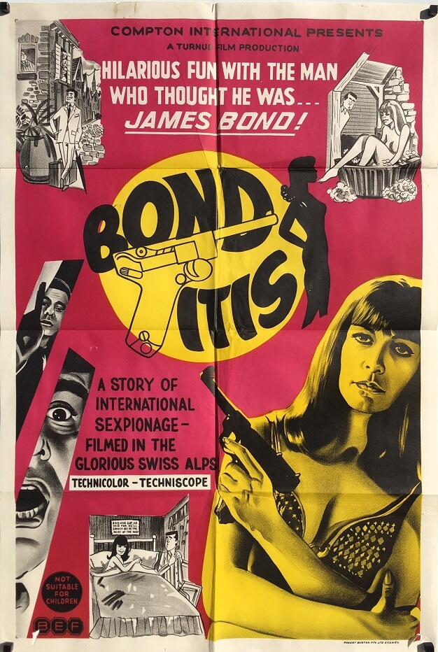 Bonditis 1968 Australian One Sheet Movie Poster James Bond spoof