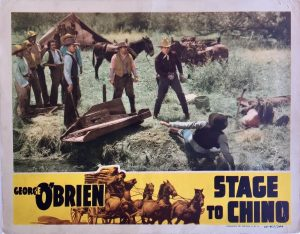 stage to chino western lobby card starring george o'brien