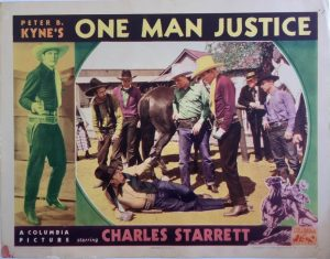 One mans jusctice western cowboy lobby card starring charles starrett