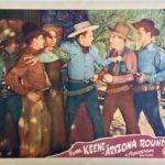 arizona roundup western lobby card starring tom keene