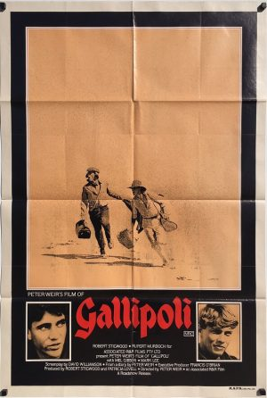 Gallipoli 1983 Australian One Sheet Movie Poster Poster Mel Gibson