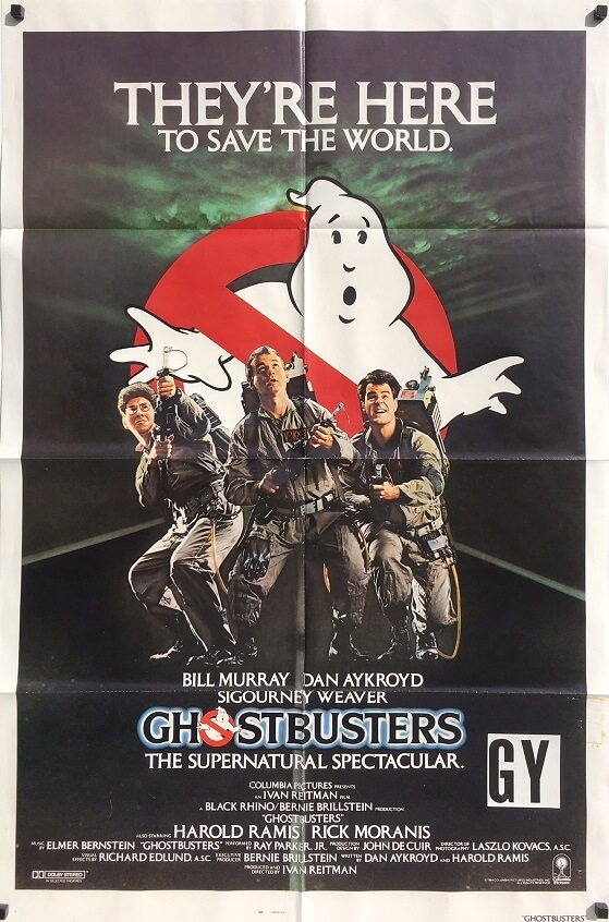 Ghostbusters 1984 US International One Sheet Movie Poster