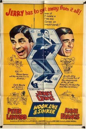 Hook Line and Sinker 1969 Australian One Sheet Poster Jerry Lewis