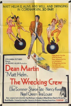 The Wrecking Crew 1969 Australian One Sheet Poster Dean Martin