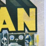 superman belgium 1948 serial poster linen backed