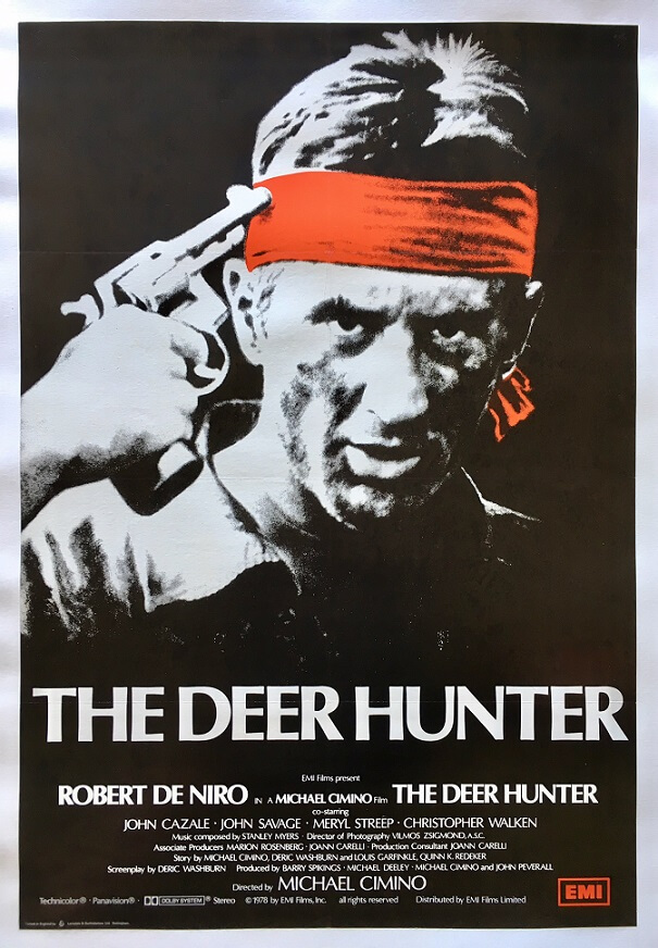 the deer hunter 1978 uk one sheet poster robert de niro original linen backed rare poster(1)