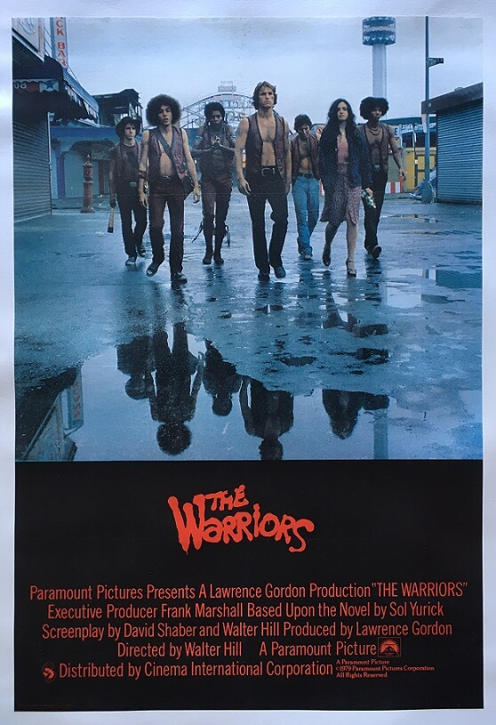 the warriors 1979 uk one sheet poster original linen backed rare poster