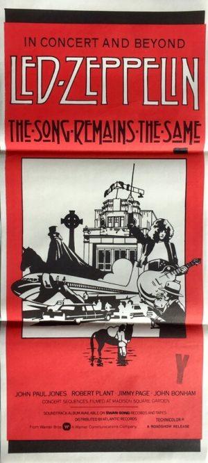 LED Zeppelin - the song remains the same australian daybill poster