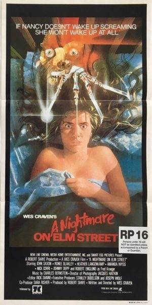 a nightmare on elms street australian daybill poster 1984
