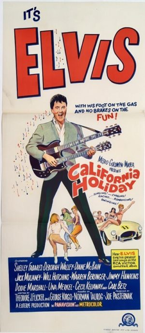california holiday australian daybill poster 1966 featuring elvis presley also known as spinout in america 1