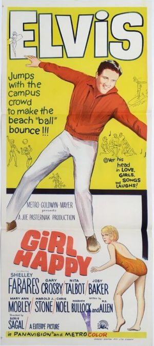 girl happy australian daybill poster elvis presley 1965
