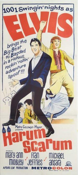harum scarum australian daybill poster elvis presley 1965