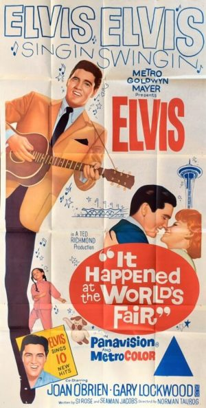it happened at the world's fair 1963 elvis presley 3 sheet australian poster