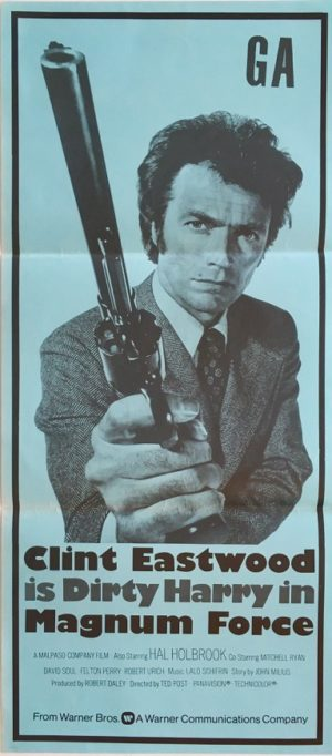 magnum force dirty harry new zealand daybill poster from 1973 featuring clint eastwood