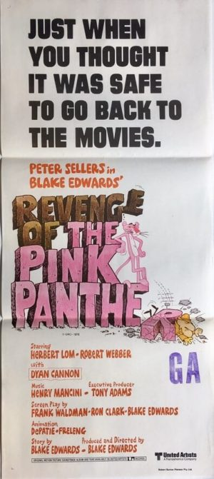 revenge of the pink panther australian daybill poster peter sellers