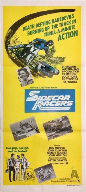 sidecar racers australian daybill poster 1975